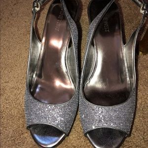 All sparkle heels